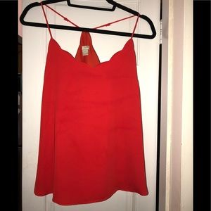 J Crew Factory scalloped cami, size 8